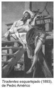"""Tela """"Tiradentes esquartejado (1893), de Pedro Américo"""