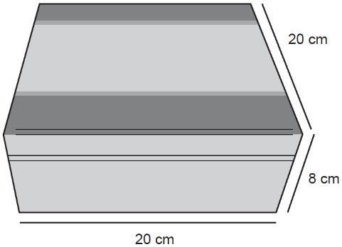 Ilustração de caixa de madeira com formato de um paralelepípedo reto-retângulo