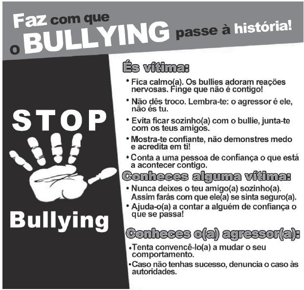 Campanha publicitária sobre bullying – enunciado questão Enem 2019