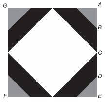 Representação de logomarca, em formato de um quadrado, de empresa de computação — enunciado questão Enem 2013