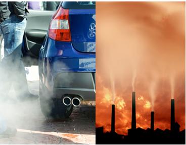Fontes de dióxido de carbono que causam efeito estufa