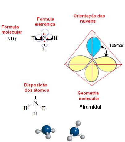 Geometria piramidal da amônia