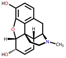 Fórmula estrutural da morfina