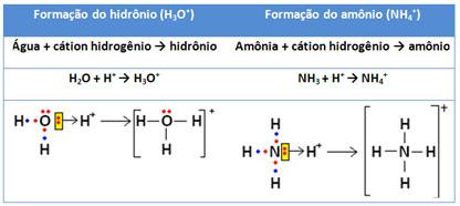 Exemplos de íons formados por meio de ligação coordenada