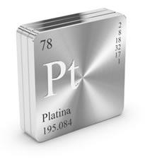 A platina é um elemento químico de número atômico igual a 78