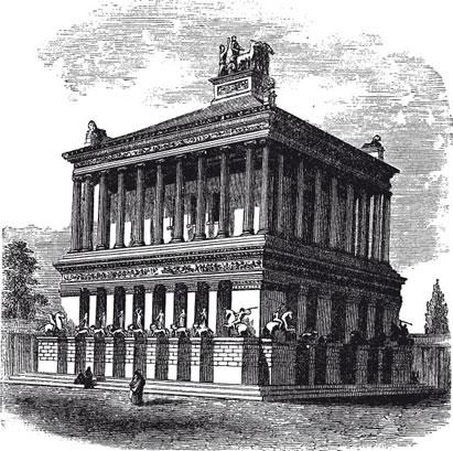 Gravura representando o Mausoléu de Halicarnasso