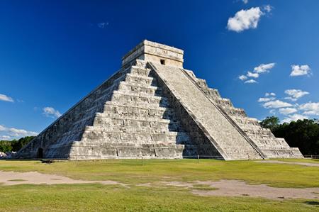 O Castelo de Kukulkan em Chichén Itzá