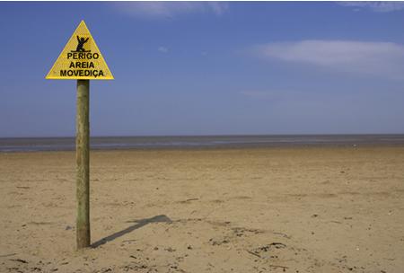 A areia movediça é um fluido não newtoniano