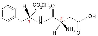 Fórmula do aspartame