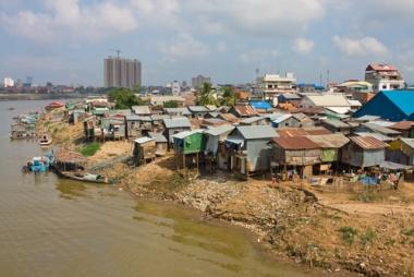 Ocupação em áreas irregulares no Cambódia