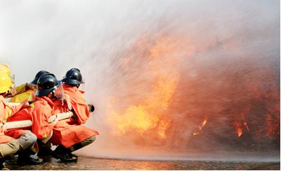 Resfriamento de incêndio com água