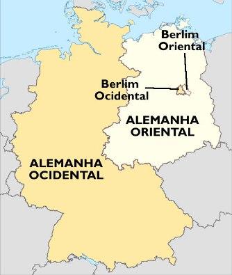 Divisão da Alemanha após o término da Segunda Guerra Mundial