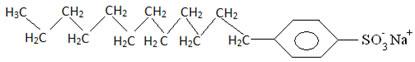 Estrutura de um sal de ácido sulfônico de detergente