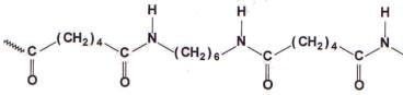 Representação parcial de uma poliamida