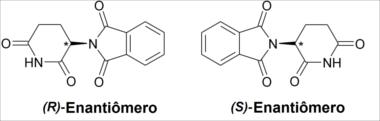 Fórmulas dos enantiômeros da talidomida
