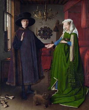 Tela O casal Arnolfini, de Jan van Eyck (1390-1441)