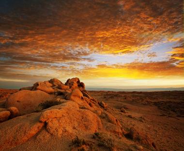 Pôr do sol no Deserto de Gobi