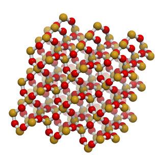 Estrutura de cristal do dióxido de silício – sílica