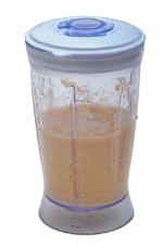 Batata com água batida no liquidificador