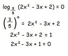 Questão 2 - Equação Logarítmica Parte 1