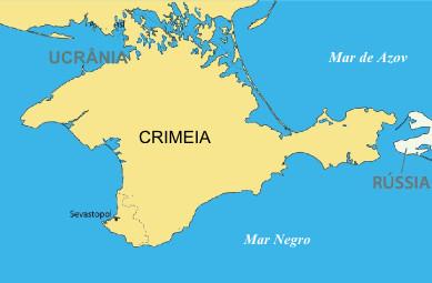 Mapa de localização da província da Crimeia
