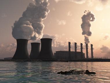 Poluição térmica da água causada por usinas nucleares