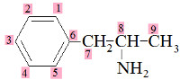 Fórmula estrutural da anfetamina