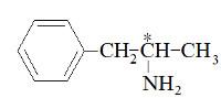 Carbono assimétrico em molécula de anfetamina