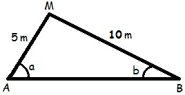 Figura do triângulo citado na questão 6