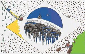 Charge do cartunista Henfil, texto-base para questão da prova de Geografia da Fuvest em 2012