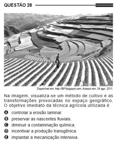 sobre técnicas agrícolas no Enem 2013