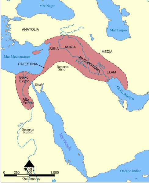 Figura 04: Mapa da Posição do Egito antigo