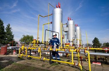 Usina de produção de gás natural