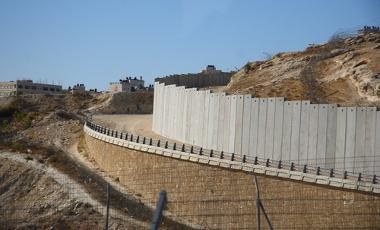 Imagem do Muro de Israel, na Cisjordânia