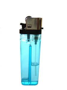 Líquido dentro de isqueiro transparente