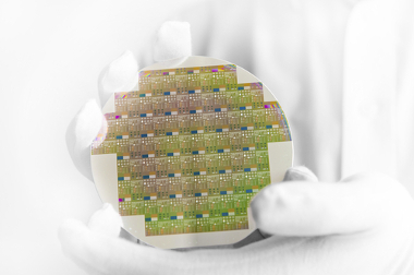 Lâmina de silício utilizada na produção de chips