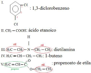 Resposta de exercício sobre nomenclatura IUPAC