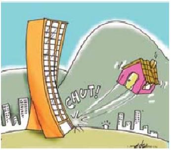 Charge crítica sobre a questão urbana