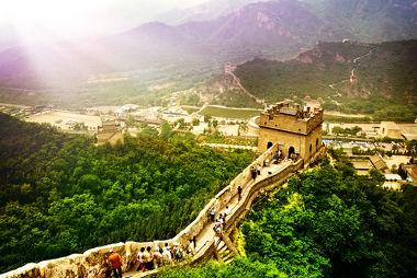Muralha da China, a maior obra arquitetônica feita pelo homem, um ponto turístico muito visitado da China