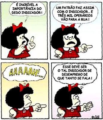 Mafalda é criação do cartunista argentino Quino. Menina precoce, serviu como porta-voz de seu criador nos tempos da Ditadura Militar argentina