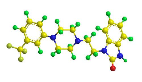 Observe a estrutura molecular do flibanserin, a droga presente no viagra feminino