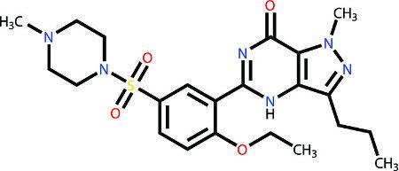 Fórmula estrutural do princípio ativo do Viagra