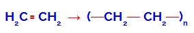 Equação da formação do polímero polietileno
