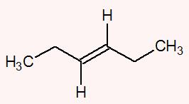 Ambos os carbonos da dupla apresentam os ligantes hidrogênio (H) e etil (H3C-CH2)