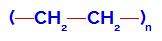 Fórmula estrutural do polietileno