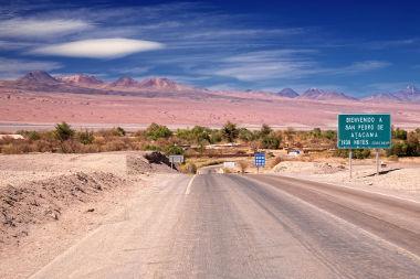 Entrada da cidade de São Pedro do Atacama