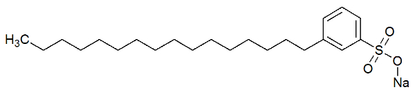 Fórmula estrutural de um detergente