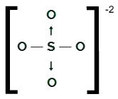 Fórmula estrutural do SO4-2