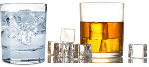Densidade do gelo em comparação com a da água e do etanol