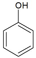Fórmula estrutural básica de um fenol